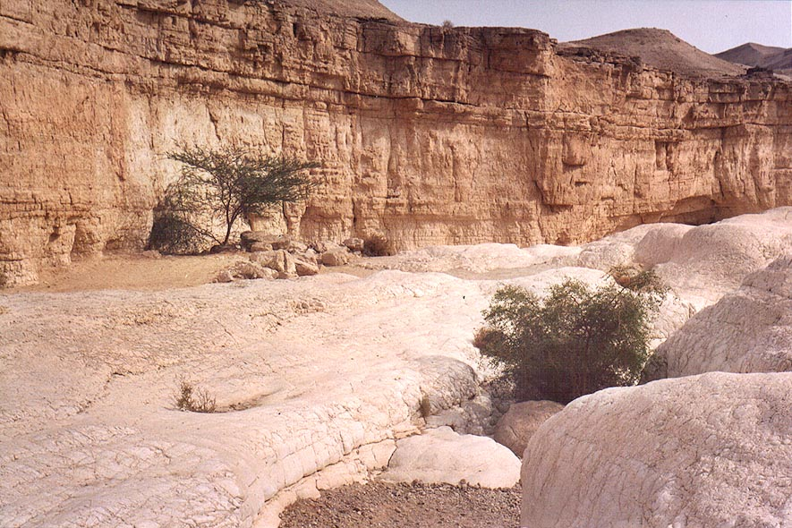 Beginning of the lower canyon of Nahal Tsafit...from Arava junction. The Middle East