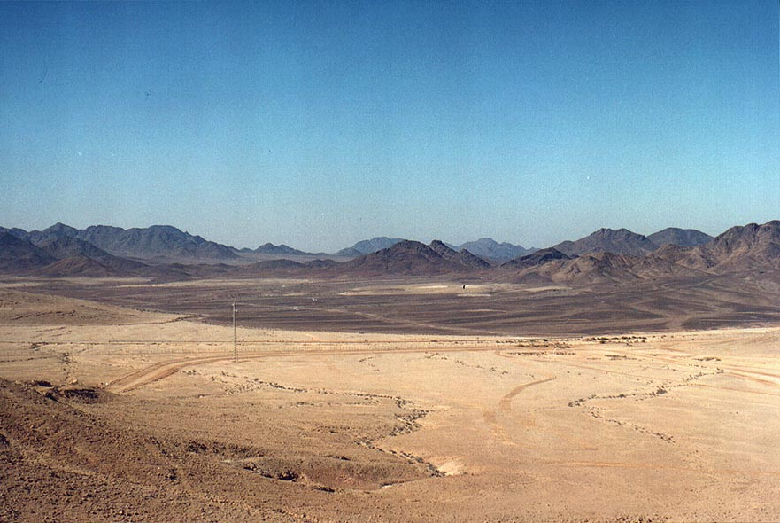 Moon Valley in Sinai, from Rd. 12 to Eilat. The Middle East
