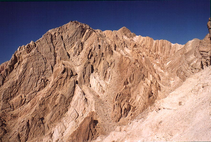 Gishron cliffs from Maale Gishron ascent 3 miles west from Eilat. The Middle East