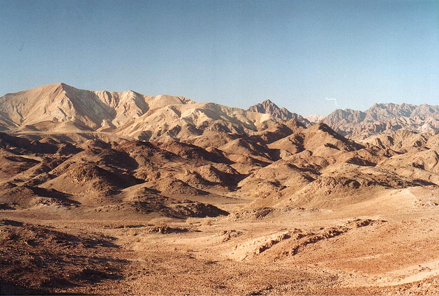 View to the north from a slope of Mount Tzefahot...south-west from Eilat. The Middle East