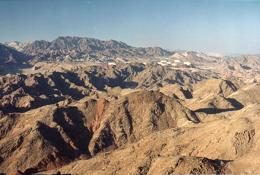 Eilat mountains north-east from Mount Tzefahot, 3...south-west from Eilat. The Middle East