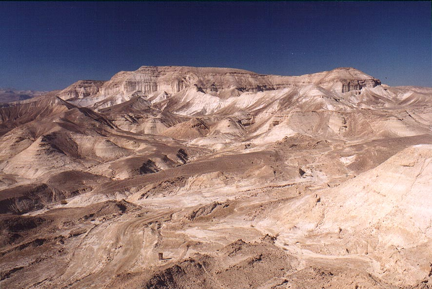 Judean Desert above canyon of Nahal Rahak creek 2...view to north-west. The Middle East