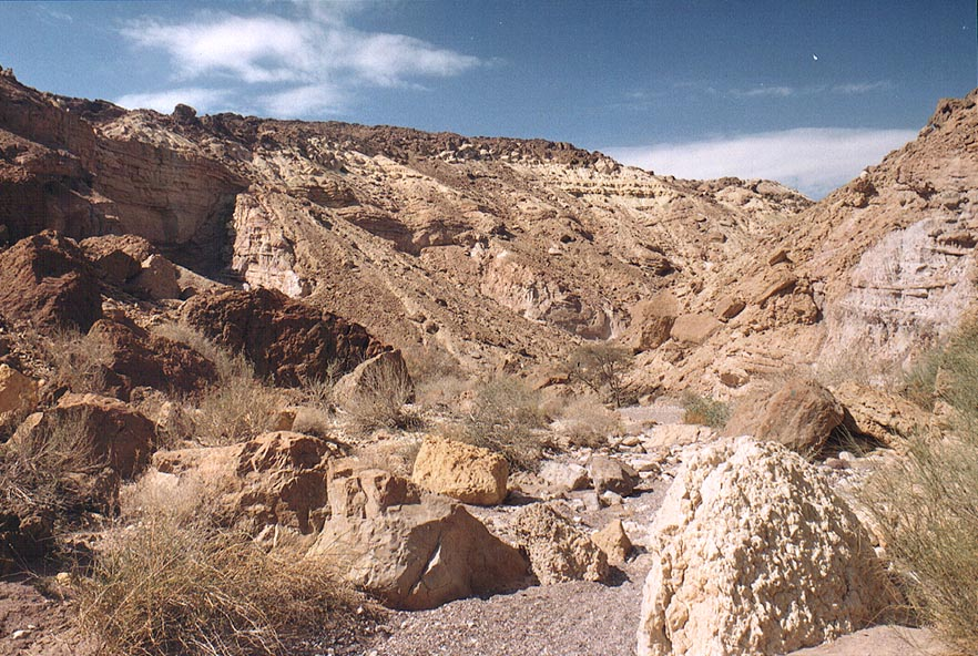 Nahal Shani wadi east from Red canyon, 8 miles north from Eilat. The Middle East