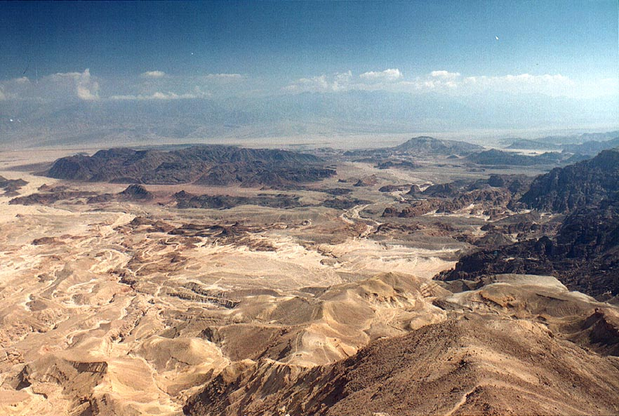 View of Timna Valley east from Mount Berekh, 16 miles north from Eilat. The Middle East