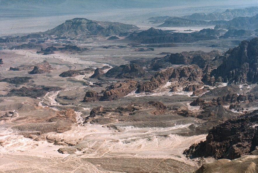 View of northern Timna Park south-east from Timna...north from Eilat. The Middle East