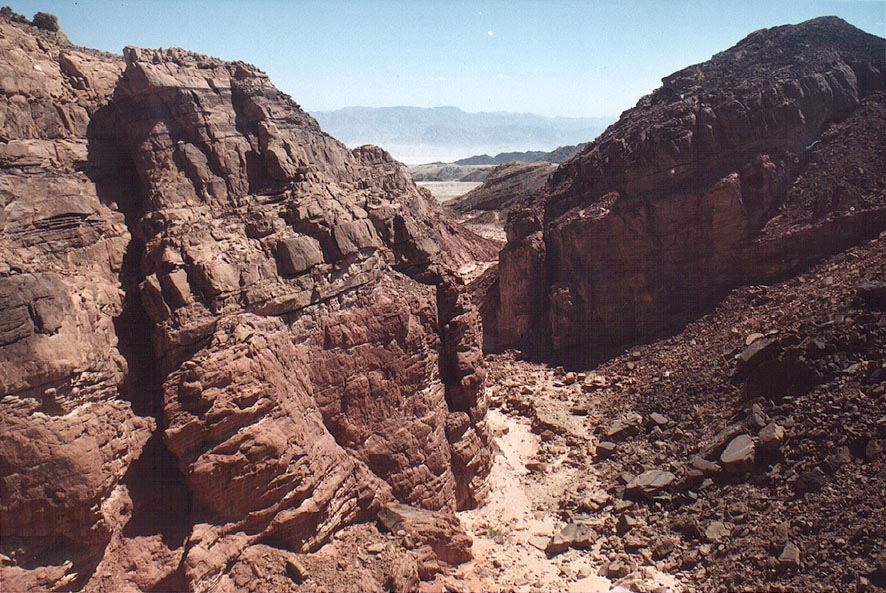 Nahal Amir wadi south from a small plateau, 5 miles north from Eilat. The Middle East