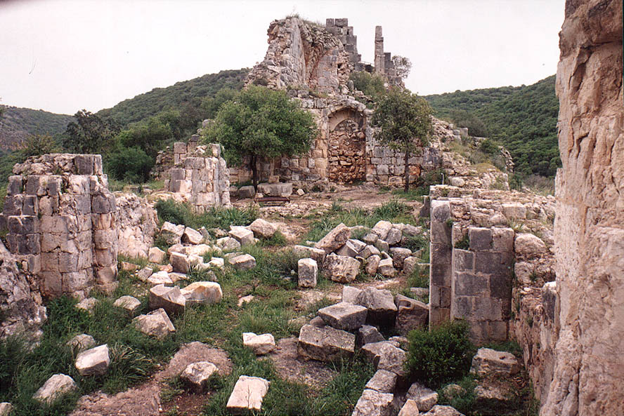 Ruins of Montfort Castle 1 miles north-west from Hila village. Galilee, the Middle East