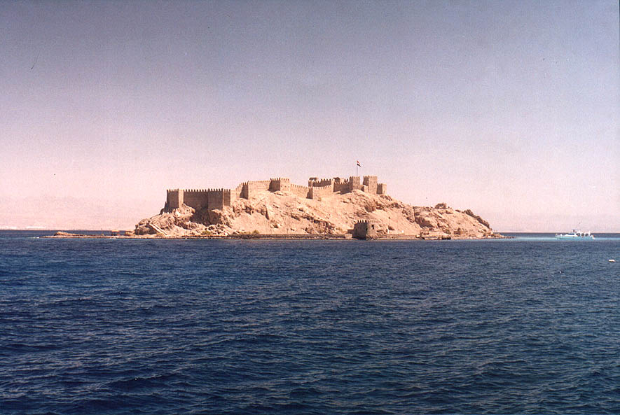 Pharaoh's Island in the Red Sea 3 miles south-west from Taba. Egypt