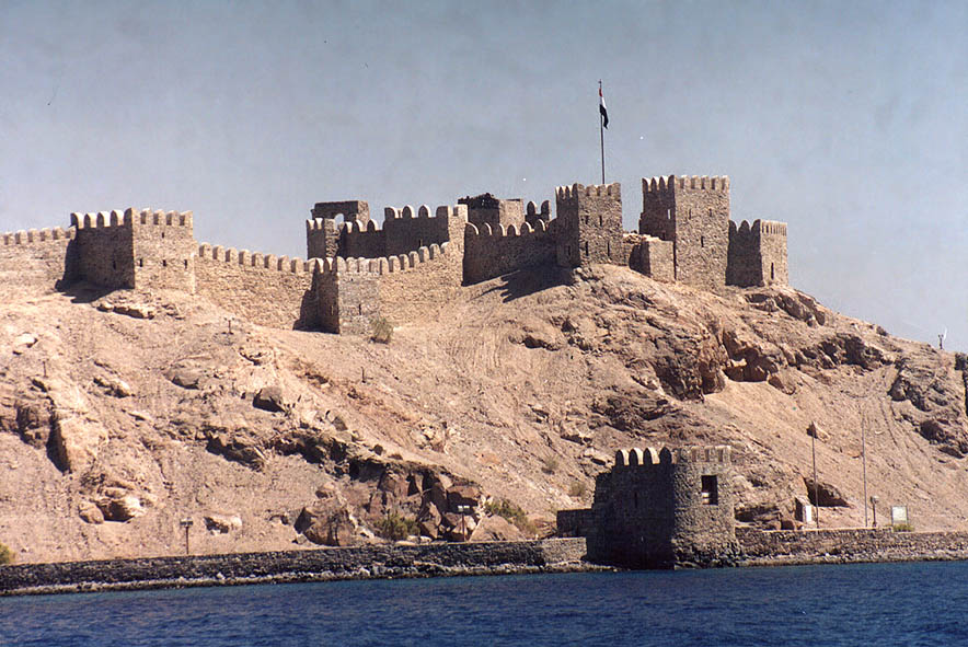 Citadel of Salah ad-Din in Pharaoh's Island in...3 miles south-west from Taba. Egypt