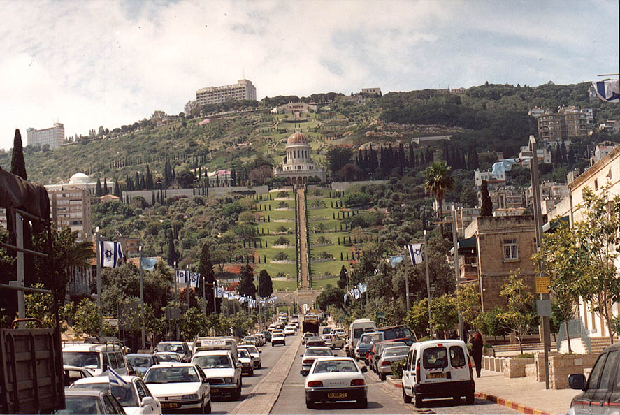 Ben Gurion Blvd. and Bahai gardens in Haifa. The Middle East
