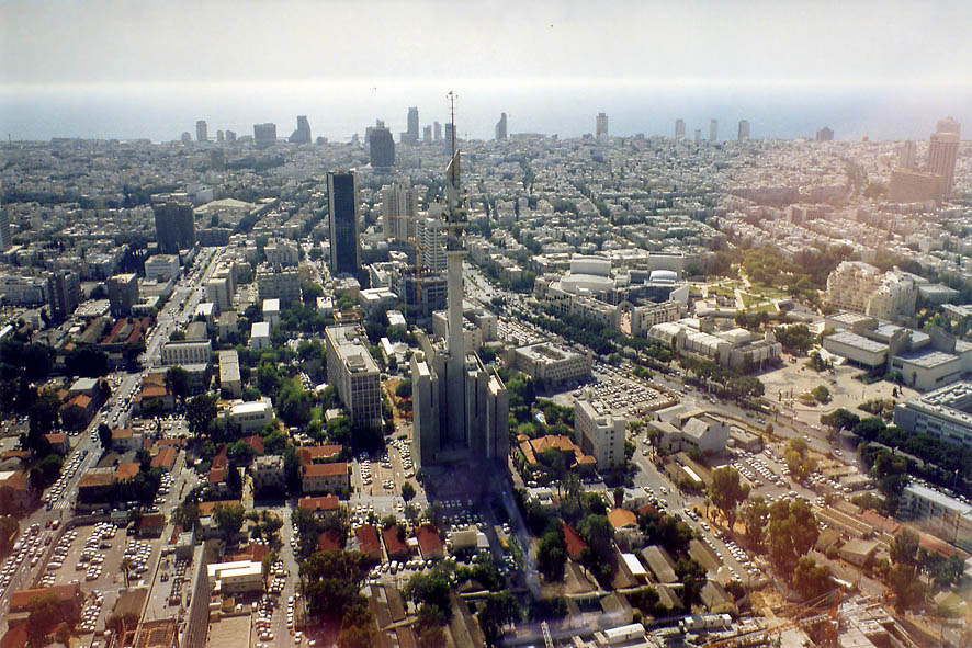 Israeli defence building, the city, hotels, and...Tower. Tel Aviv, the Middle East