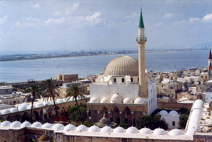 Great Mosque, view from the Citadel. Akko, the Middle East