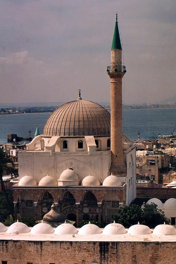 Great Mosque from Citadel. Akko, the Middle East