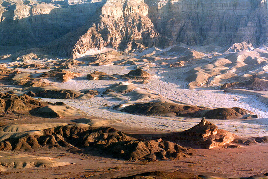 View of Timna Cliffs from Timna Stage in Timna...north from Eilat, the Middle East
