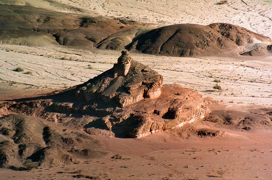 Spiral Hill from Timna Stage (a flat tabletop of...north from Eilat, the Middle East
