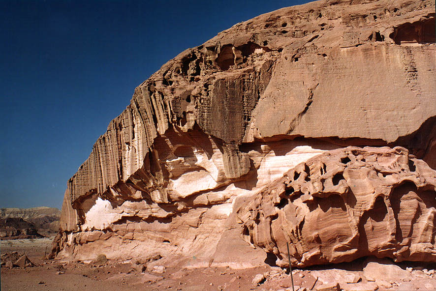 Edge of Solomon Pillars in Timna Park at morning...north from Eilat, the Middle East