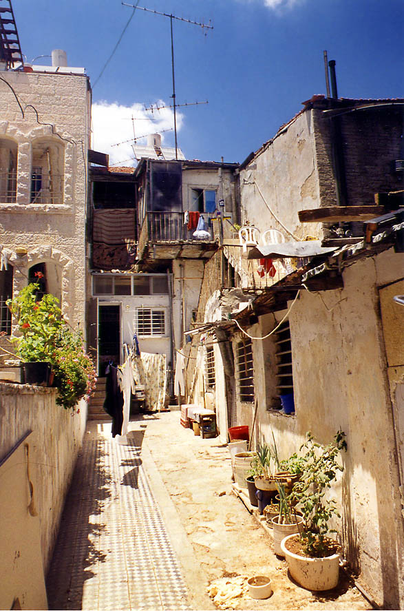Haim Ozer Street in orthodox neighborhood of Beit Israel. Jerusalem, the Middle East