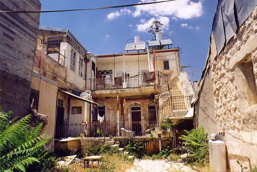 Habeshet Street in orthodox neighborhood of Beit Israel. Jerusalem, the Middle East
