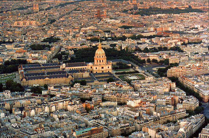 View from Eiffel Tower at evening. Paris