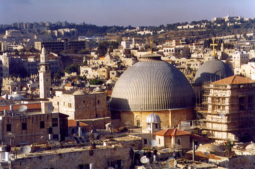 Church of the Holy Sepulchre from the Citadel. Jerusalem, the Middle East