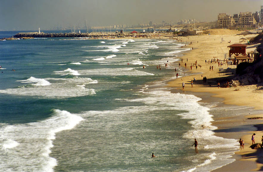 Mediterranean beach in Ashkelon. The Middle East
