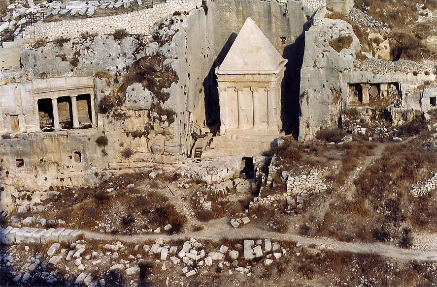 Tomb of the Sons of Hezir and Tomb of Zechariah...Ofel Rd.. Jerusalem, the Middle East