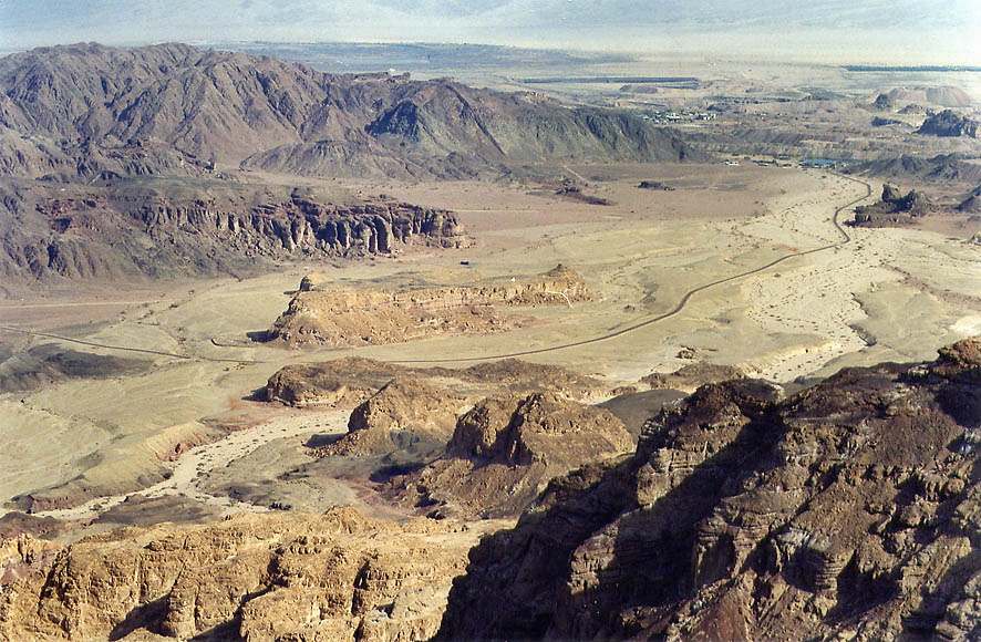 Solomon Pillars and Hill of Slaves in Timna...north from Eilat. The Middle East