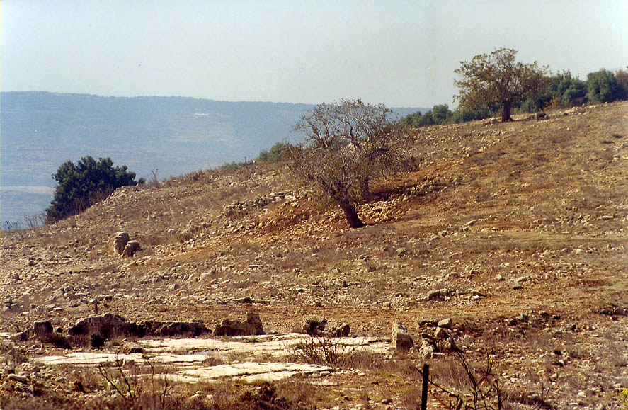 Hirbet Bek place on a slope of Mount Meron in...village of Germak. The Middle East
