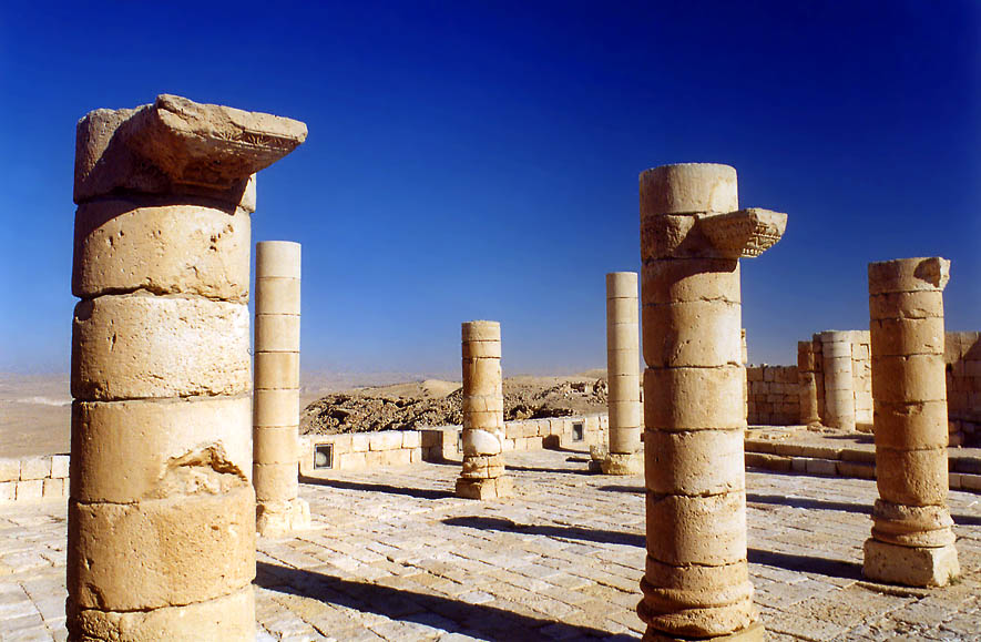 The North Church in archeological site of Avdat in Negev Desert. The Middle East