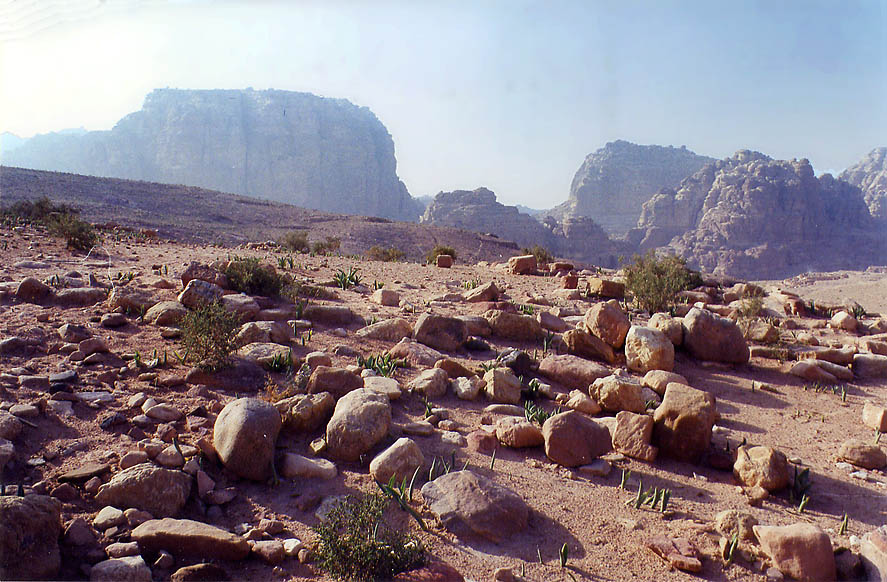 A hill in front of Royal Tombs. Petra, Jordan