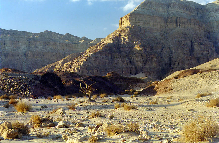 Timna Cliffs, 13 miles north from Eilat, 30 minutes before sunset. The Middle East