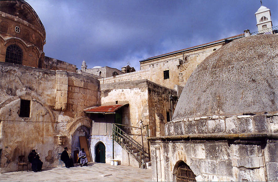 Deir al-Sultan rooftop monastery (Coptic...Old City of Jerusalem. The Middle East