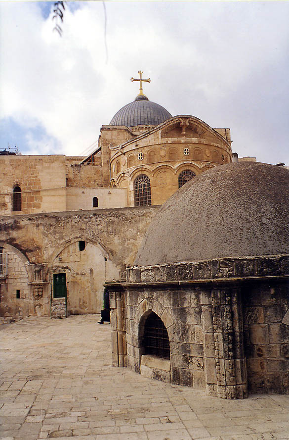 Coptic Monastery (Deir al-Sultan rooftop...Old City of Jerusalem. The Middle East