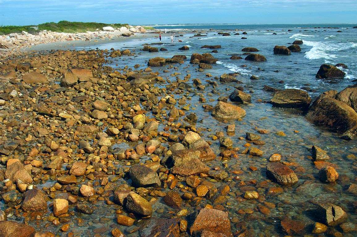 Atlantic Ocean, Fall River and Newport  - A beach in Acoaxet. Massachusetts