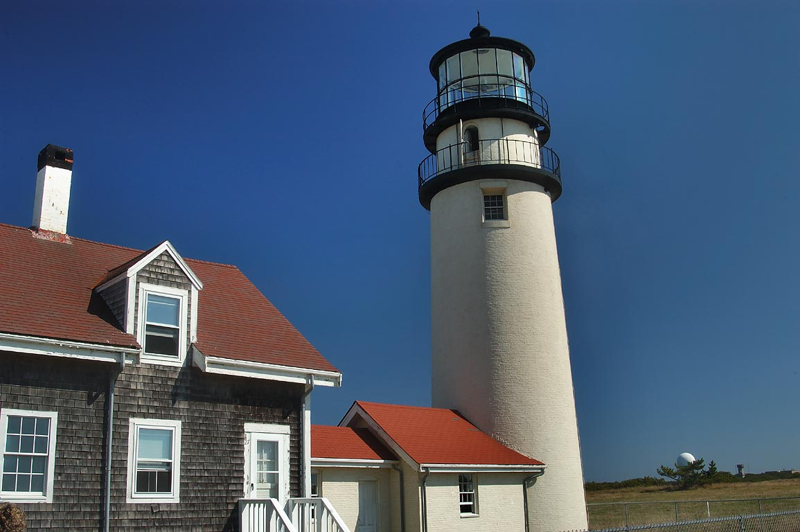Highland Light, or Cape Cod Lighthouse. North Truro, Massachusetts