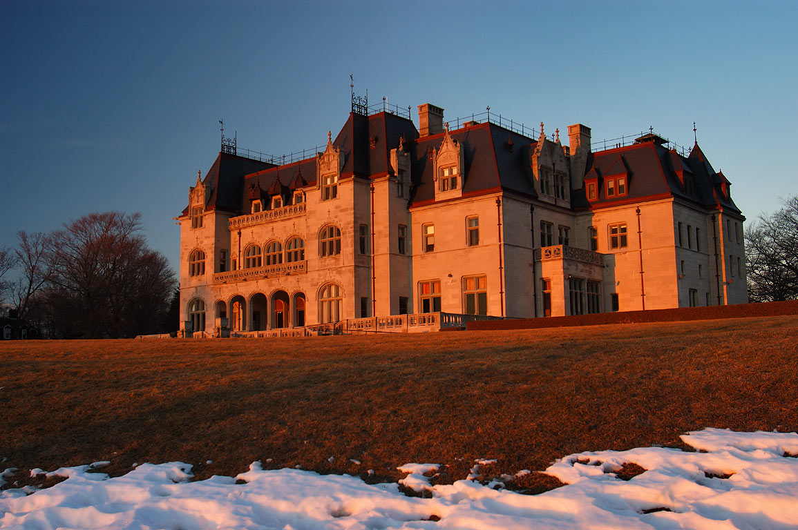 Ochre Court Mansion of Salve Regina University...at sunrise. Rhode Island 7:02 a.m