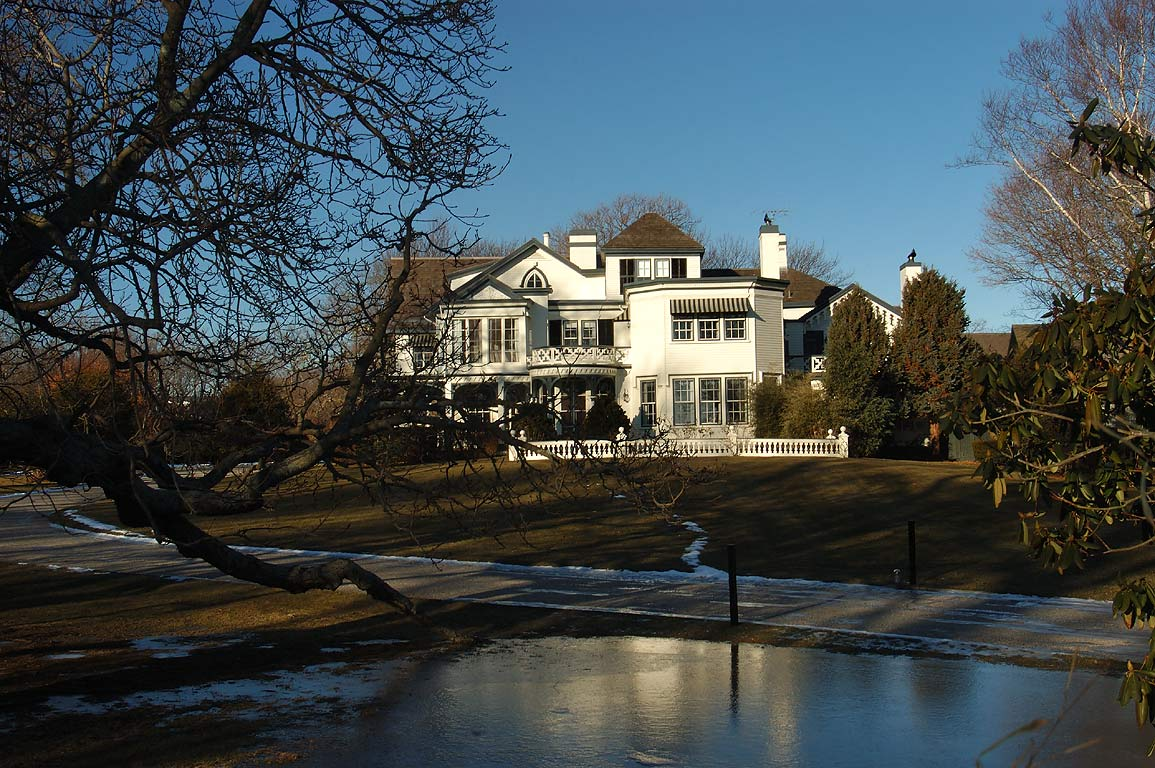 A mansion at south end of Bellevue Ave.. Newport, Rhode Island