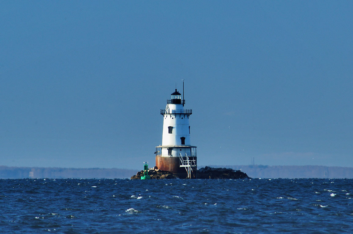 Conimicut Lighthouse and entrance to Providence...Nayatt Point. Barrington, Rhode Island