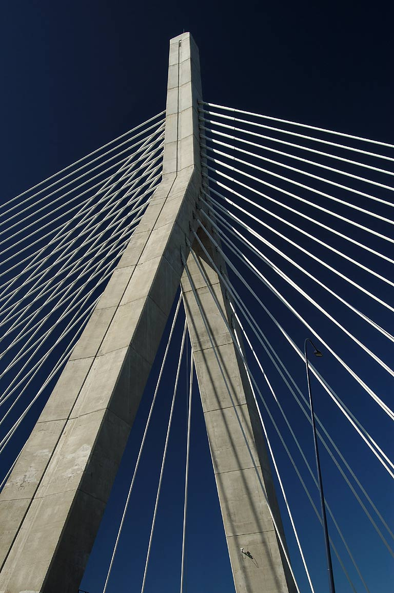 Leonard P. Zakim/Bunker Hill Suspension Bridge...Fleet Center. Boston, Massachusetts