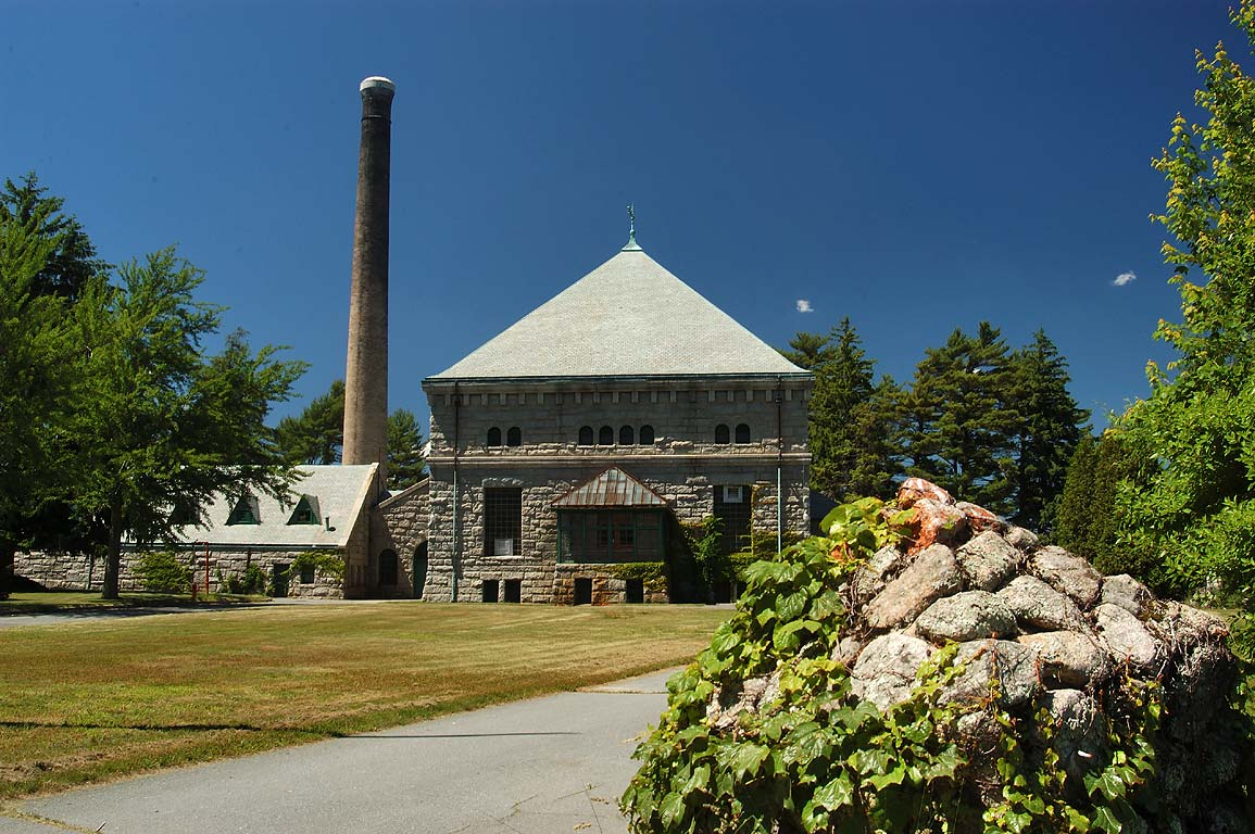 Filtration Plant at Little Quittacas Pond, near North Rochester. Massachusetts