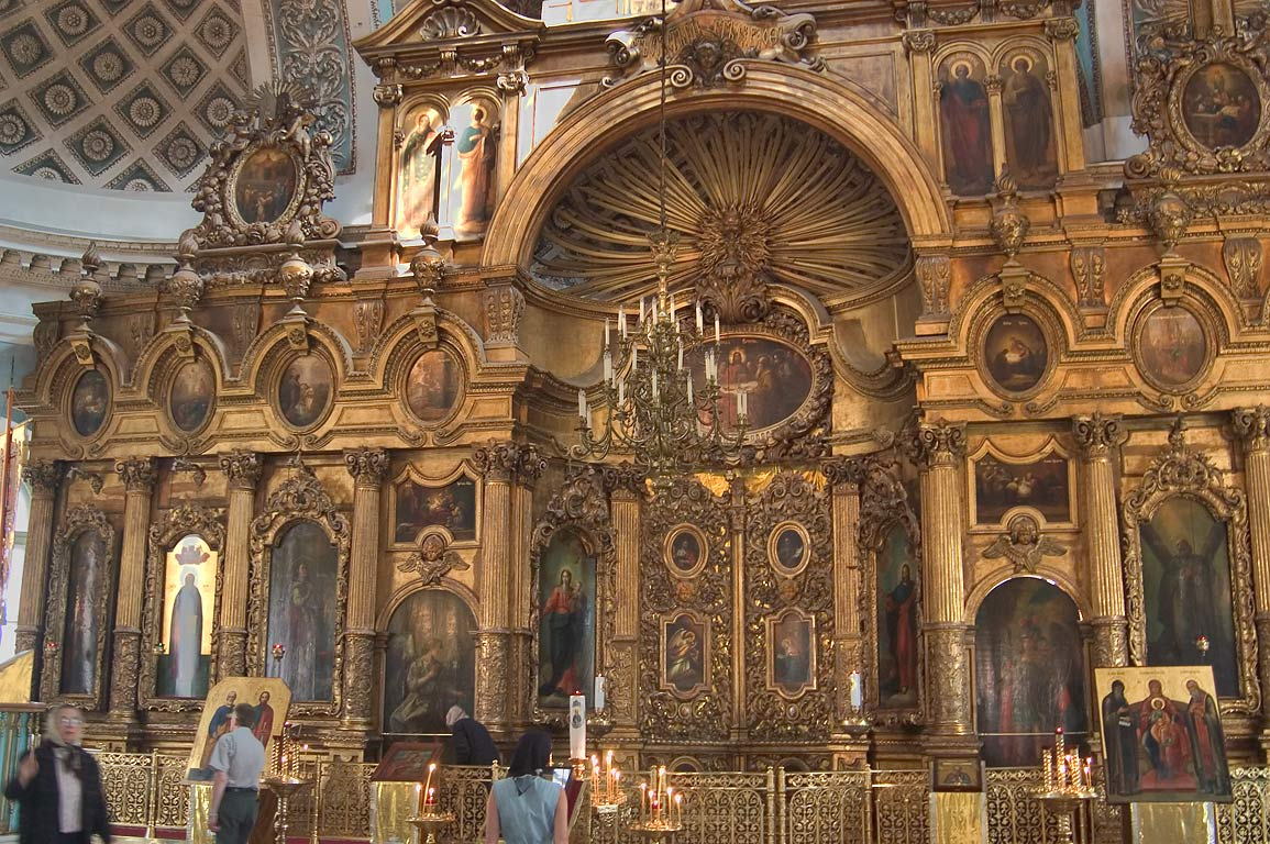 Interior of the Andreevsky Cathedral (Cathedral...neighborhood. St.Petersburg, Russia