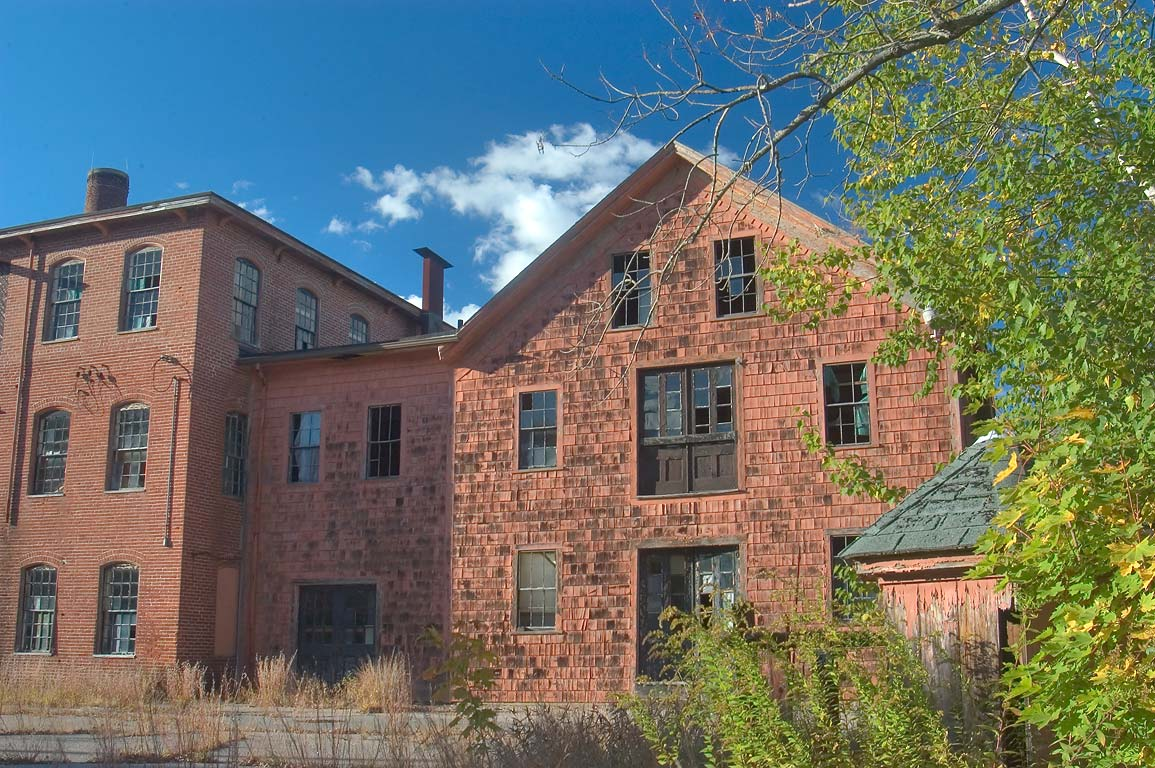 Stanley Woolen Mill in Blackstone River and Canal...State Park. Uxbridge, Massachusetts