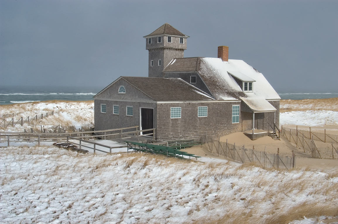 Old Harbor Lifesaving Station museum near Race...Cape Cod. Provincetown, Massachusetts