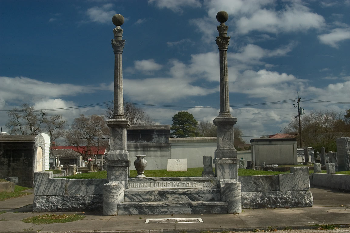 A tomb of Hiram Lodge No. 70.F. and A. M. in...near Conti St.. New Orleans, Louisiana