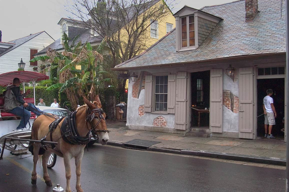 Lafitte's Blacksmith Shop on the corner of...St.Philip St.. New Orleans, Louisiana