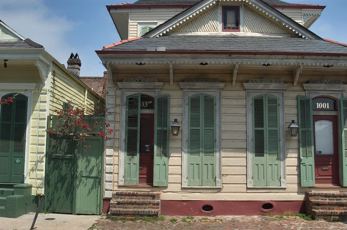Camelback house in French Quarter . New Orleans, Louisiana
