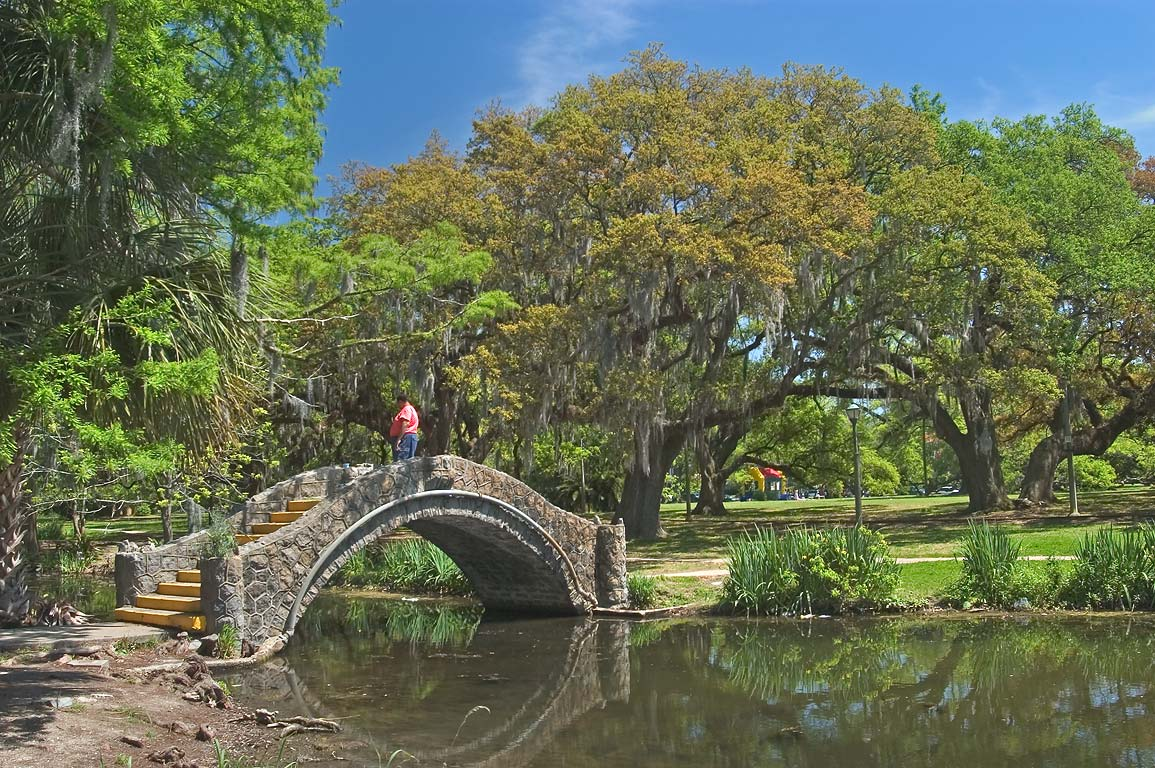 A bridge in City Park. New Orleans, Louisiana