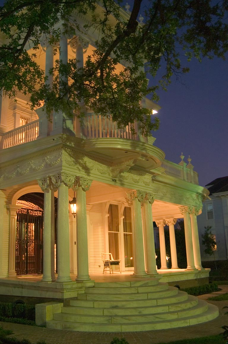 "Wedding Cake"" House (1912) at St.Charles Ave. at evening. New Orleans, Louisiana"