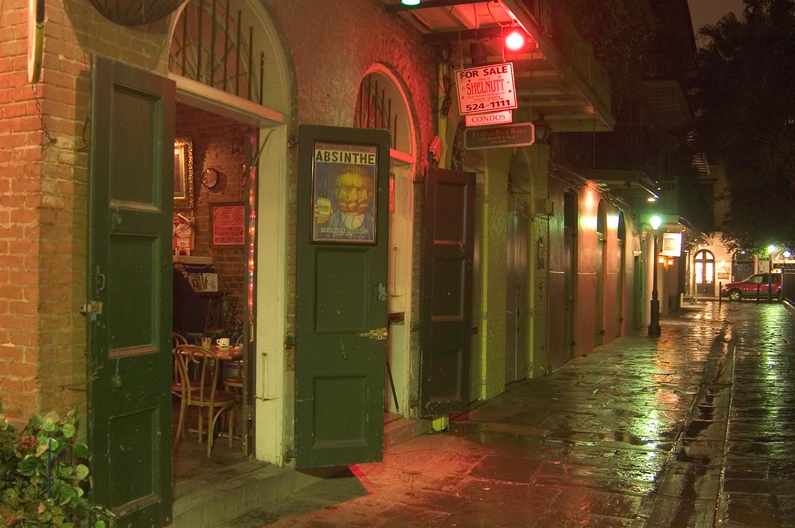 Pirates Alley, looking from a corner with Cabildo...French Quarter. New Orleans, Louisiana