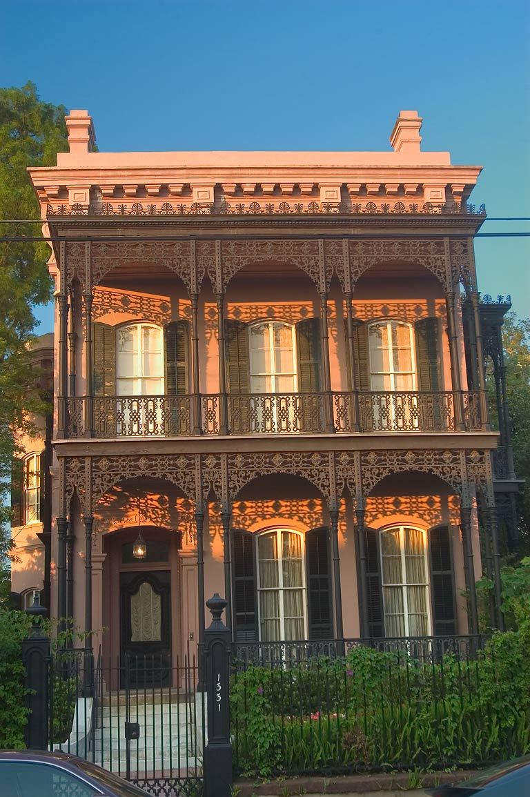 Morris-Israel House at 1331 First St. in Garden District. New Orleans, Louisiana